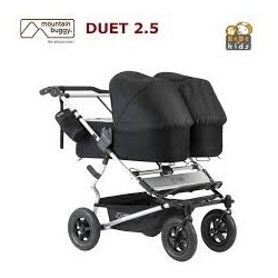 Silla + 2 capazos Mountain Buggy duet 2.5 black
