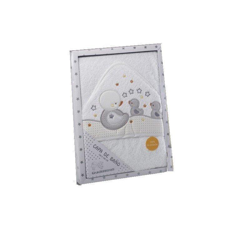 Capa de baño Gamberritos 9712 blanco-gris