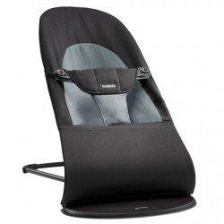 Hamaca BabyBjorn Balance Soft negro-gris + Bolsa de transporte de regalo