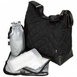 Bolso HOBO - Diamont quilt black - Metalic lining