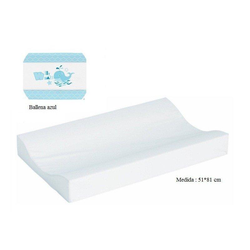 Cambiador de bañera flexible 80*50 Ballena azul