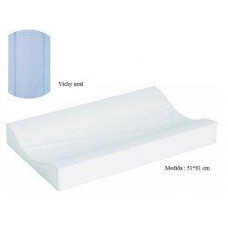 Cambiador de bañera flexible 80*50 Vichy azul