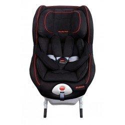 Silla de auto 0-1 isofix contramarcha Suecia de Mondial Safe + Babyled de regalo (negro-rojo)