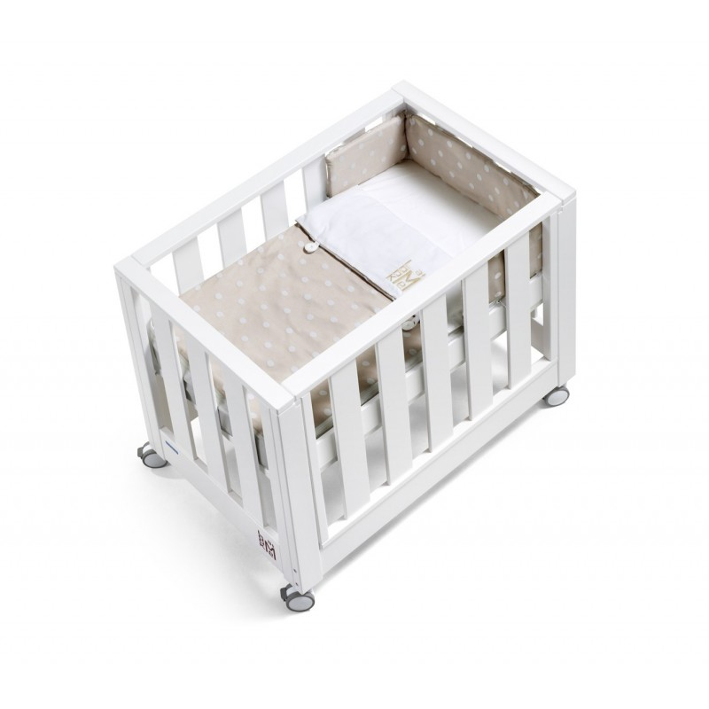Minicuna Look At Me blanco new topo beige de cotinfant