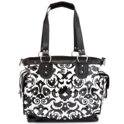 Bolso Fleurville Lexie Tote black and white