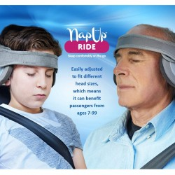 NapUp Ride Reposacabezas JUNIOR-ADULT-SENIOR Gris