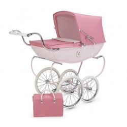 Coche de Juguete chatsworth rosa Silver Cross +bolso
