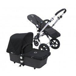 Bugaboo cameleon 3 gris oscuro, chasis aluminio y pack de fundas negro