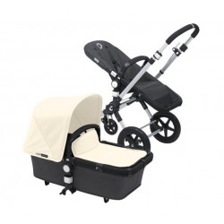 Bugaboo cameleon 3 gris oscuro, chasis aluminio y pack de fundas marfil