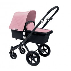 Bugaboo Cameleon 3 negro, chasis negro y pack de Fundas rosa pastel