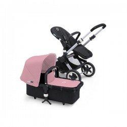 Bugaboo Buffalo chasis aluminio y pack de fundas rosa pastel