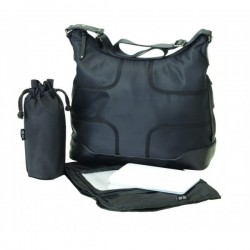 Bolso HOBO - Black taped microfibra