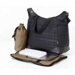 Bolso HOBO - Black printed check