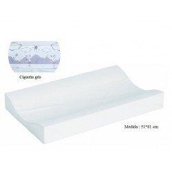 Cambiador de bañera flexible 80*50 Cigueña gris