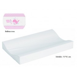 Cambiador de bañera flexible 80*50 Ballena rosa