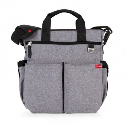 BOLSO DE PAÑALES SKIP HOP DUO SIGNATURE HEATHER GRAY + caja