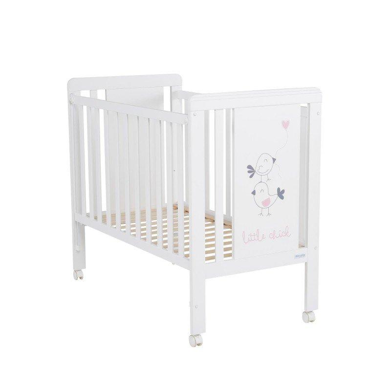 Cuna Micuna Little Chick blanco-rosa 120*60