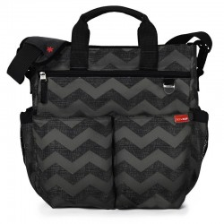 BOLSO DE PAÑALES SKIPHOP DUO SIGNATURE DARK CHEVRON