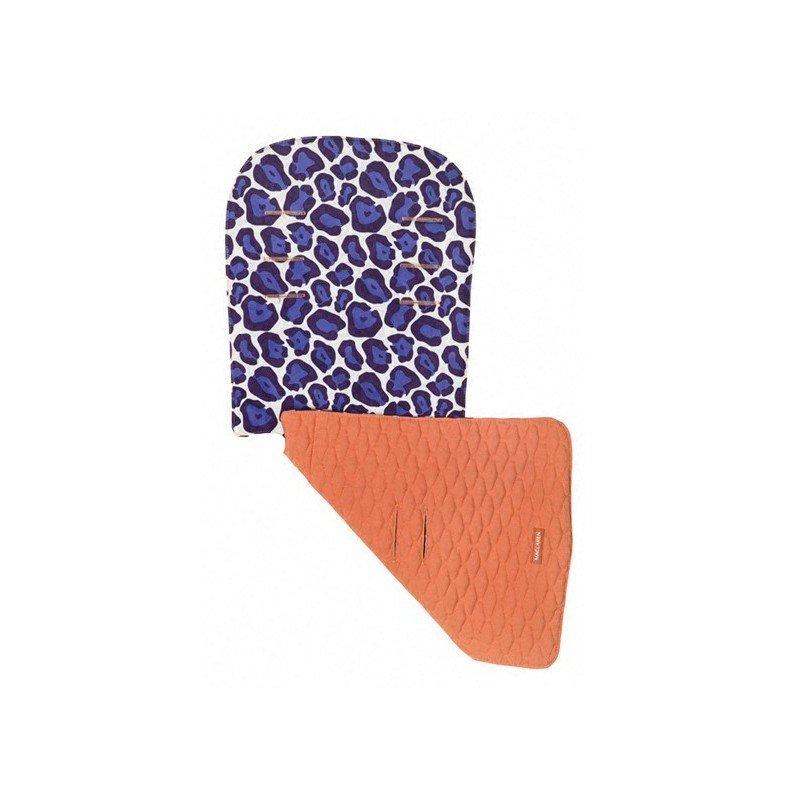 Colchoneta maclaren reversible leopardo-naranja