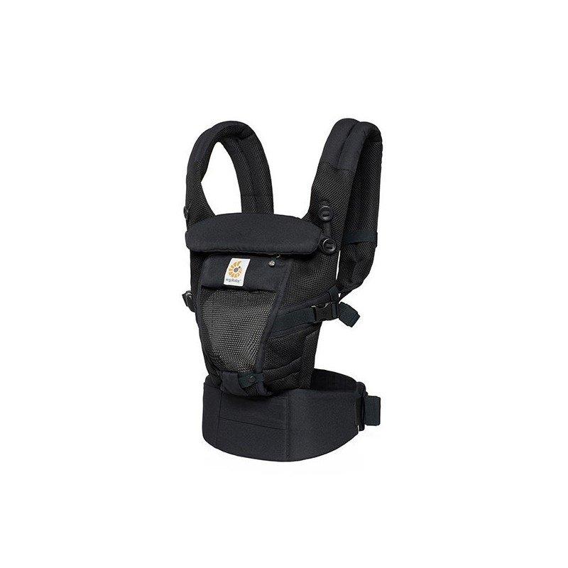 Mochila portabebe Adapt Cool Air negro de ErgoBaby