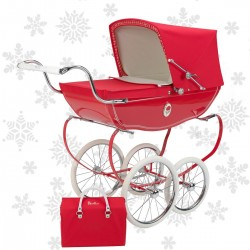 Coche de Juguete Chatsworth Poppy rojo silver cross+ Bolso