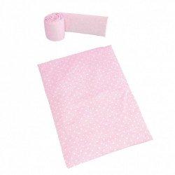 Nórdico+protector minicuna colecho Galaxy rosa