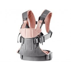 BABY BJORN Mochila Portabebé ONE Cotton Mix Gris Powder Pink