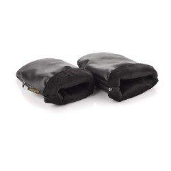 Manopla / guante de paseo polipiel negro de Jane