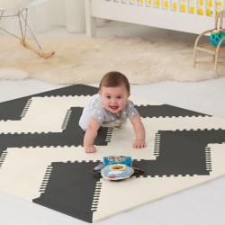 alfombra actividades skip hop play spot black cream